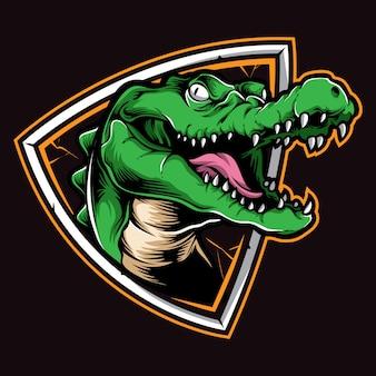 Vettore logo coccodrillo
