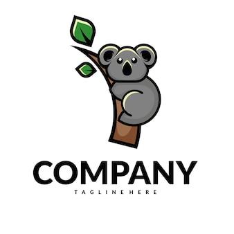 Vettore logo koala