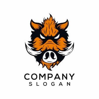 Vettore logo maiale