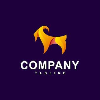 Vettore logo moderno capra