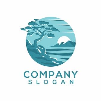 Vettore logo oceanico