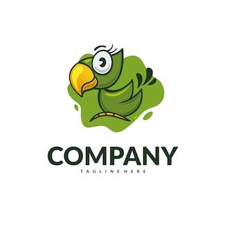 Vettore logo pappagallo