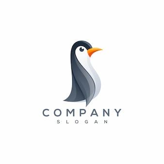 Vettore logo pinguino