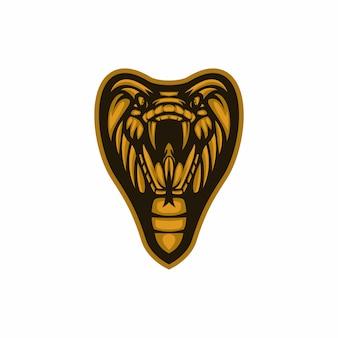 Vettore logo serpente