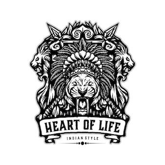 Vettore logo stile indiano