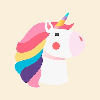 Vettore magico dell'illustrazione dell'unicorno dell'arcobaleno