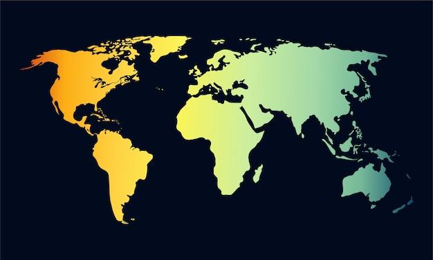 Vettore mappa del mondo.