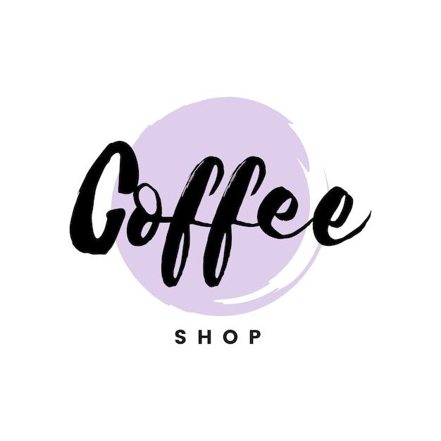 Vettore marcante a caldo di logo della caffetteria