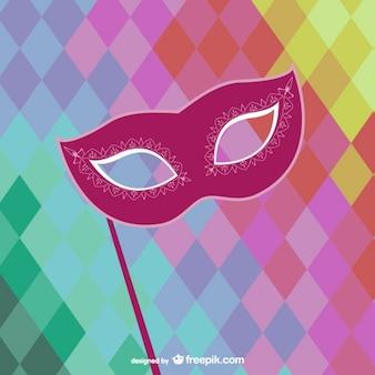 Vettore maschera di carnevale