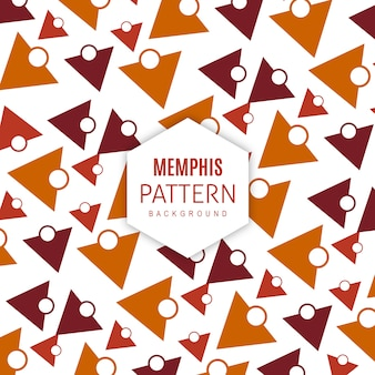 Vettore memphis pattern background