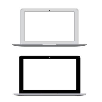 Vettore moderno del taccuino del computer portatile
