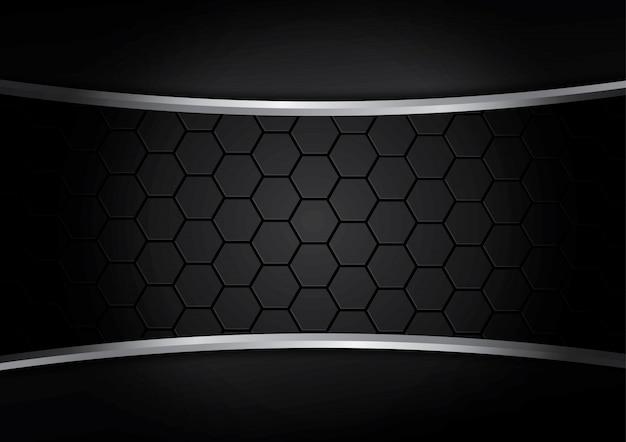 Vettore nero del fondo della banda del velluto a coste, fondo del modello del metallo.