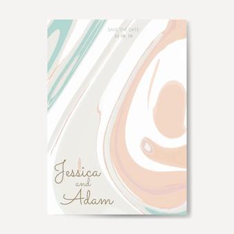 Vettore pastello della carta dell'invito di nozze