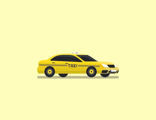 Vettore piano di taxi berlina