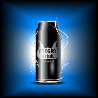 Vettore può di bevanda enery
