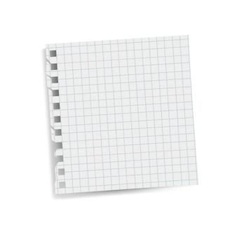 Vettore quadrato vuoto della nota di carta di ricordo di griglia