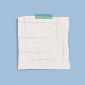Vettore quadrato vuoto nota promemoria griglia