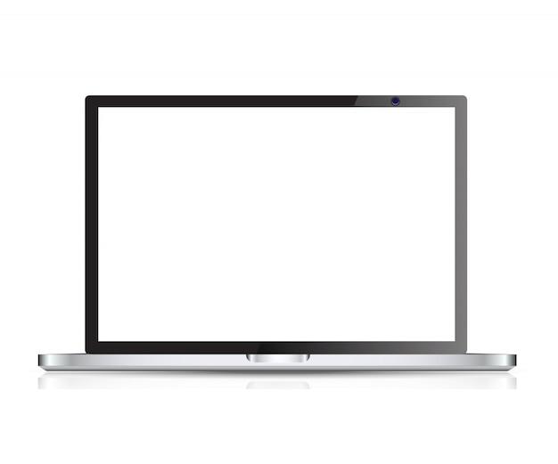 Vettore realistico del computer portatile