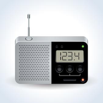 Vettore realistico del ricevitore radio
