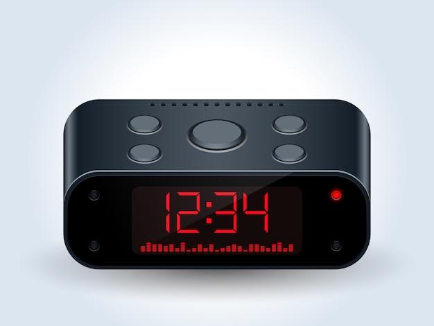 Vettore realistico dell'orologio desktop digitale