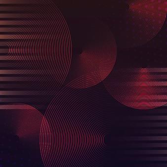 Vettore rosso del fondo del modello del cerchio