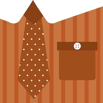 Vettore rosso illutration della priorità bassa del primo piano della scheda di papà della camicia