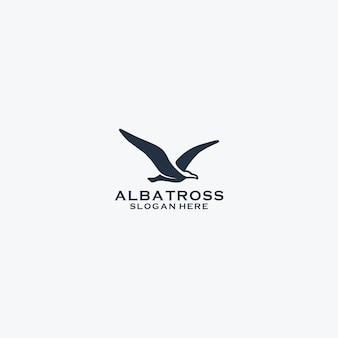 Vettore semplice di progettazione di logo dell'albatro