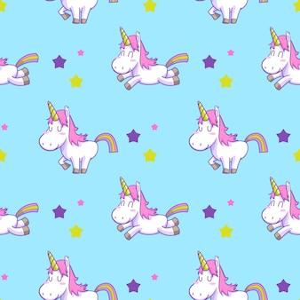 Vettore senza cuciture dell'unicorno