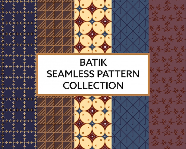 Vettore senza cuciture della raccolta del modello del tessuto del batik