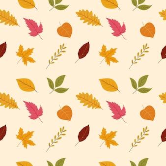 Vettore senza soluzione di continuità con l'autunno