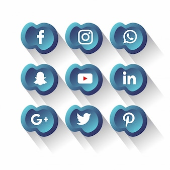 Vettore sociale del pacchetto delle icone di media