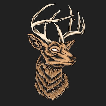 Vettore testa di cervo