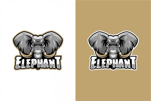 Vettore testa di elefante