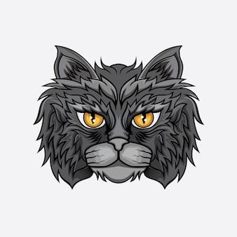 Vettore testa di gatto