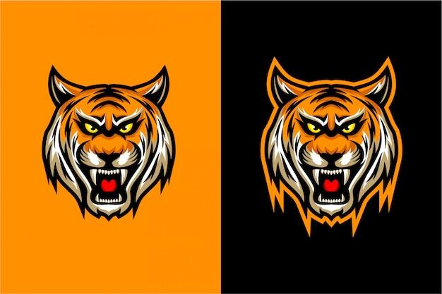 Vettore testa di tigre