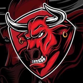 Vettore toro rabbia