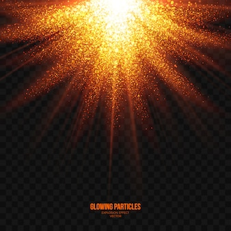 Vettore trasparente di effetto luminoso astratto di esplosione
