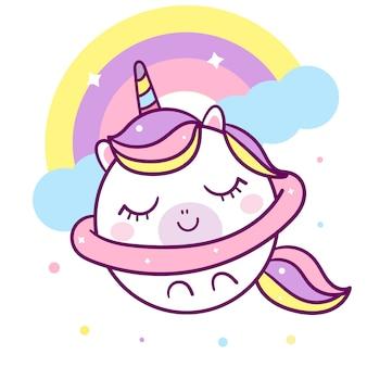 Vettore unicorno con stella