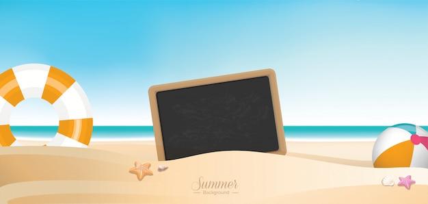 Vettore variopinto della spiaggia di vacanza estiva