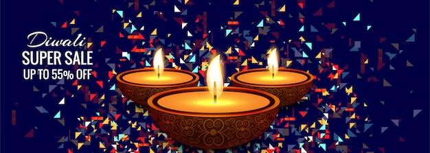 Vettore variopinto di progettazione dell'insegna di vendita eccellente di diwali