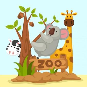 Vettore zoo degli animali