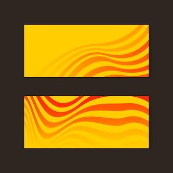Vettori astratti gialli ed arancioni della bandiera