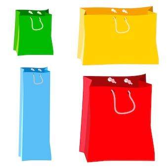 Vettori di borse per la spesa di carta