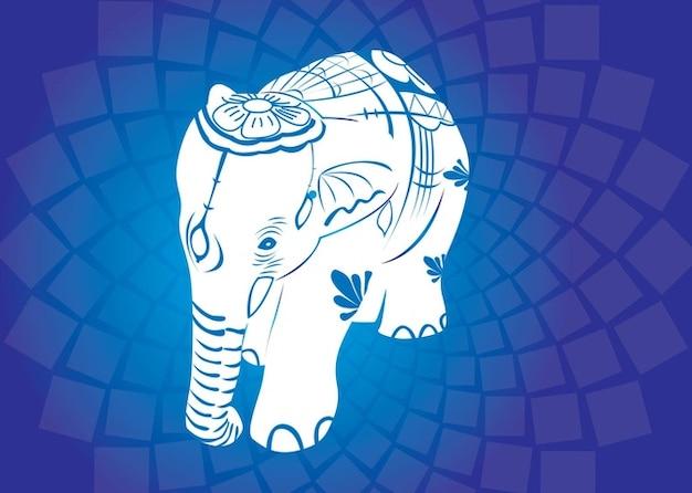 Vettori di elefante asiatico