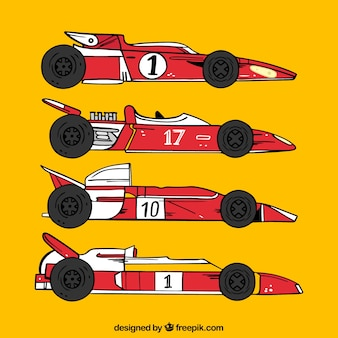 Vettura da corsa moderna di formula 1 disegnata a mano
