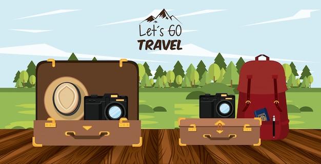 Viaggi di viaggio e luoghi turistici