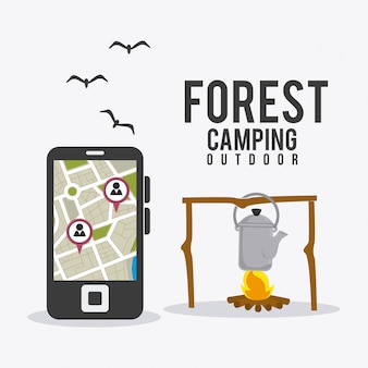 Viaggi e vacanze in campeggio.