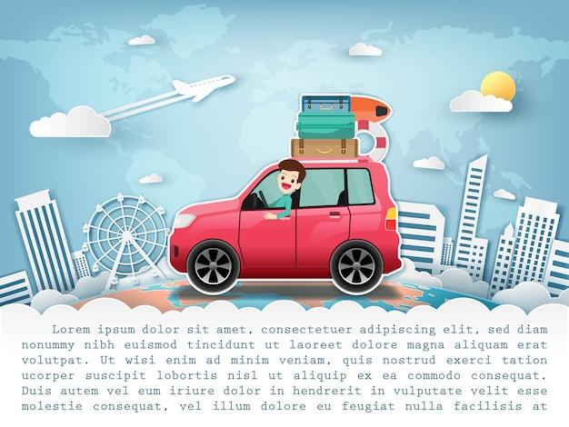 Viaggi in auto in tutto il mondo.