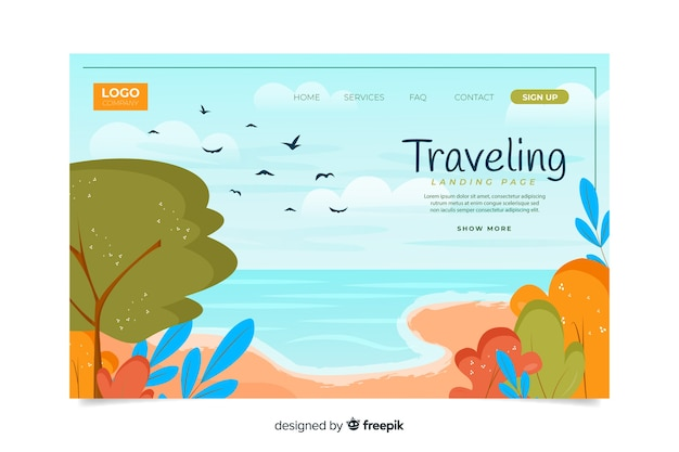 Viaggia attraverso la landing page del mondo