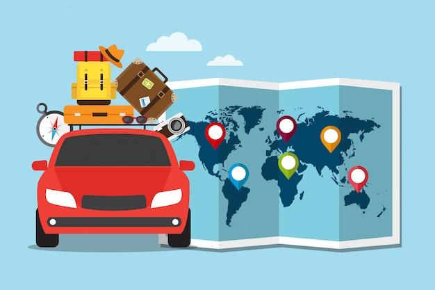 Viaggia in auto in vacanza